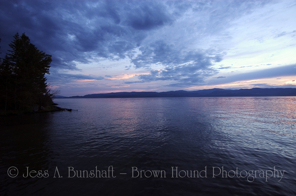 Sunset on Flathead Lake, Montana