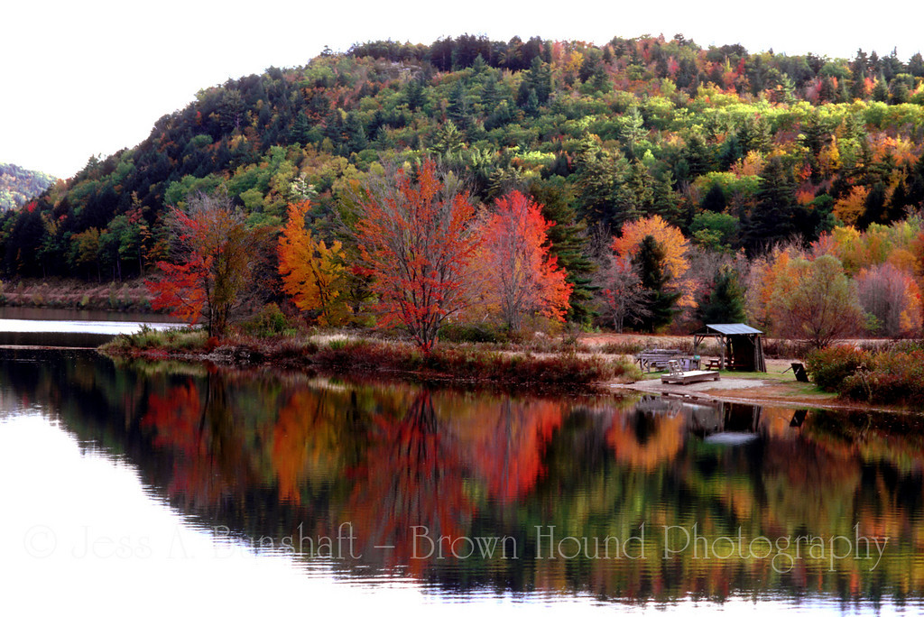 Crystal Lake with fall foliage, Eaton (North Conway), New Hampshire