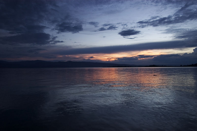Sunset on Flathead Lake, Montana