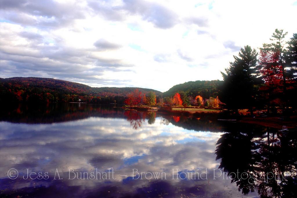 Crystal Lake with fall foliage, Eaton (North Conway), New Hampshire