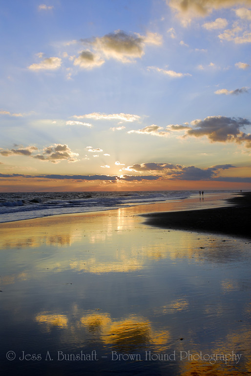 Sunset on Point Lookout Beach, Long Island, New York