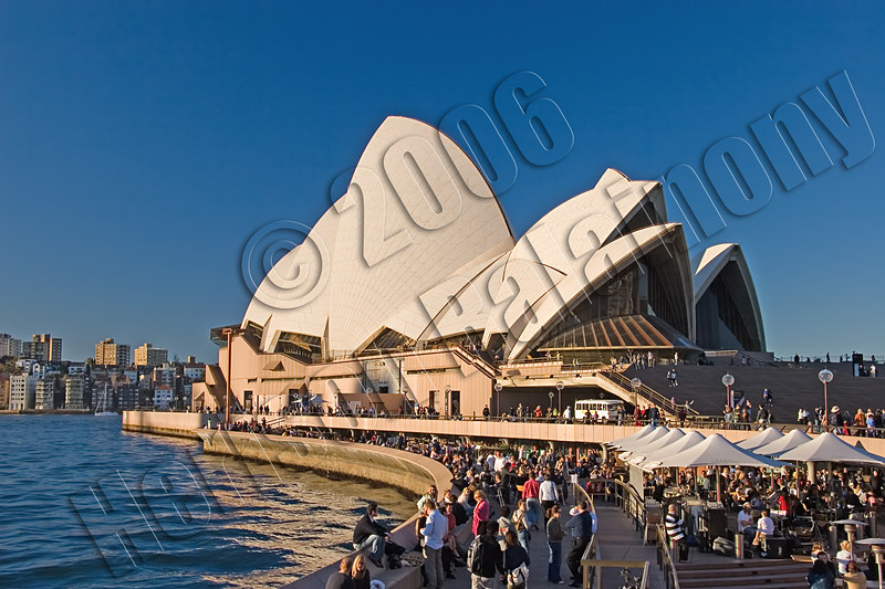 Sydney Opera House taken with a polariser attached