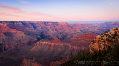 South rim Grand Canyond, Yaki Point at dust