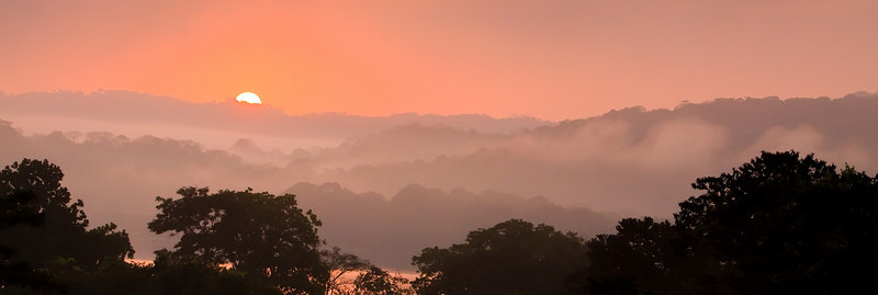 Sunrise over Gamboa, Panama (Chagres River)