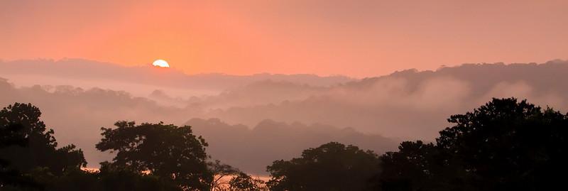 Sunrise over Gamboa, Panama (Chagres River)