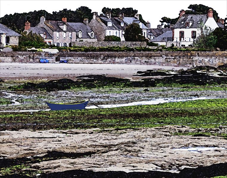 Barfleur Harbor, Low Tide, Normandy, France