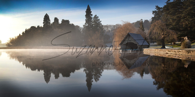 Casle Leslie Boathouse on a winters morning