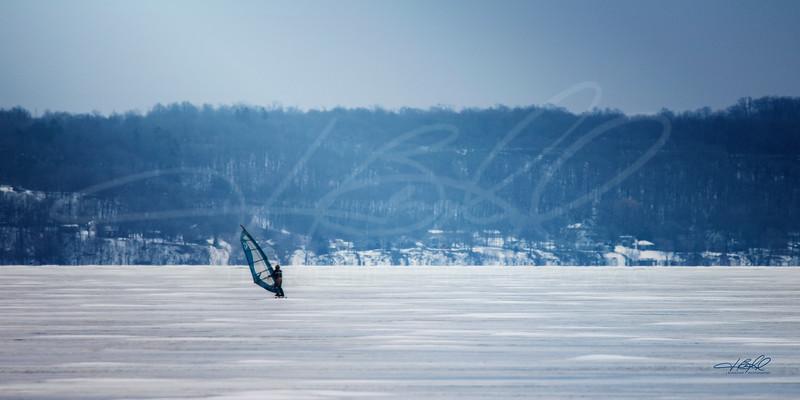 Winter Windsurfing on Winnebago