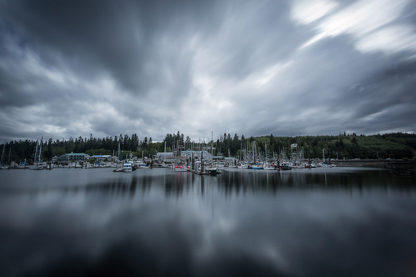 Long Exposure over Hardy Bay Marina