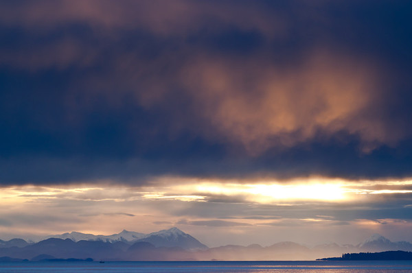 Queen Charlotte Strait and Coastal Mountain Range, British Columbia