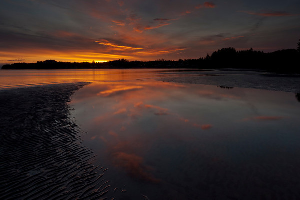 Storey's Beach- Port Hardy, British Columbia at sunrise.
