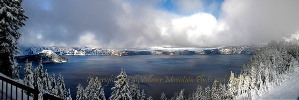 Crater Lake celebrates the first snowfall of the year.