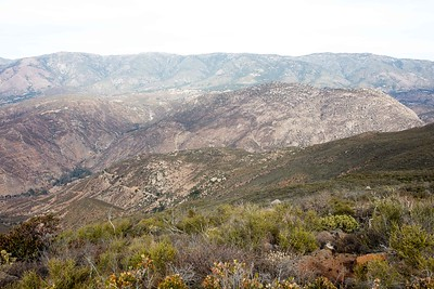 Rodriguez Trail view toward Palomar Mountain and Cleveland National Forest