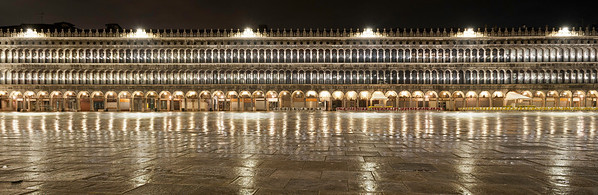 Rainy night, St Marks Square, Venice