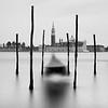 Gondoler and San Giorgio Maggiore, Venice