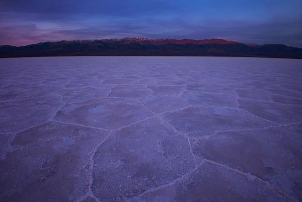 Badwater Basin - Alpine Glow