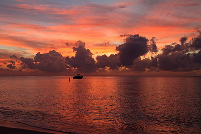 Post sunset photo 7 Mile Beach, Grand Cayman 1-7-2012.