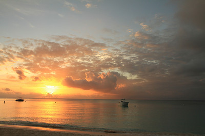 Sunset on 7 Mile Beach in Grand Caymans 1-10-2012