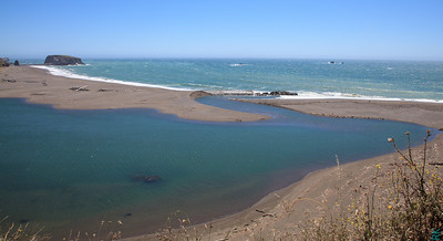 Russian River joins the ocean near Jenner