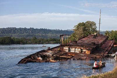 Oild tanker wreck, Panama 2014