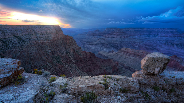 This is perhaps my favorite photo so far from my recent trip to the Grand Canyon. If you've never been, it is just breathtaking.We searched for a spot where there weren't many tourists, and it really paid off. It was super quiet except for the occasional rumble of thunder off in the distance. I can't wait to get back and explore the Grand Canyon some more!</p> </div>  				<div class=