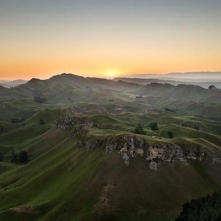 Sunset at Te Mata Peak