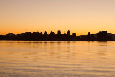 San Diego skyline at dawn 1/13/2012