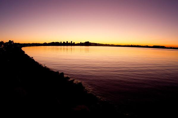 San Diego Skyline at dawn 1-13-2011