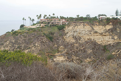 La Jolla Farms homes, UCSD Chancellor's home in white on the right.