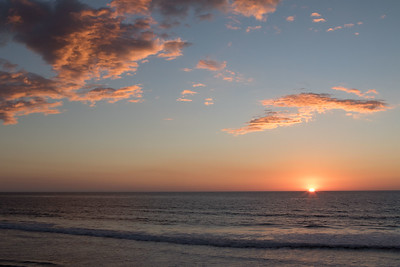 Last Sunset of January 2015, Pacific Ocean seen from Leucadia, CA