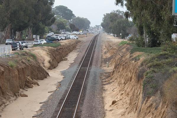 Leucadia landscape exterior home and train tracks 5-08-2015