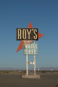Roy's Cafe on Route 66 in Amboy