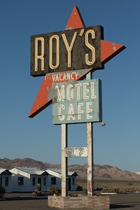 Roy's Motel on Route 66 in Amboy