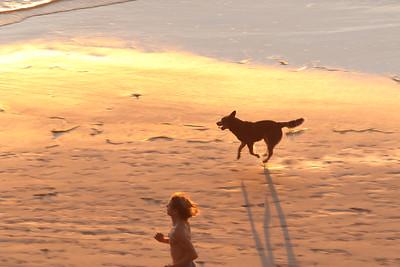 Sunset run on the beach, North Leucadia, CA January 2015