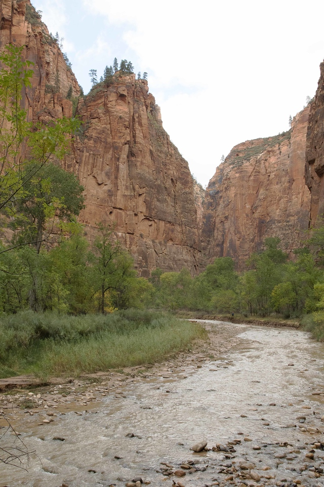 Virgin River Narrows entering Zion National Park October 2015