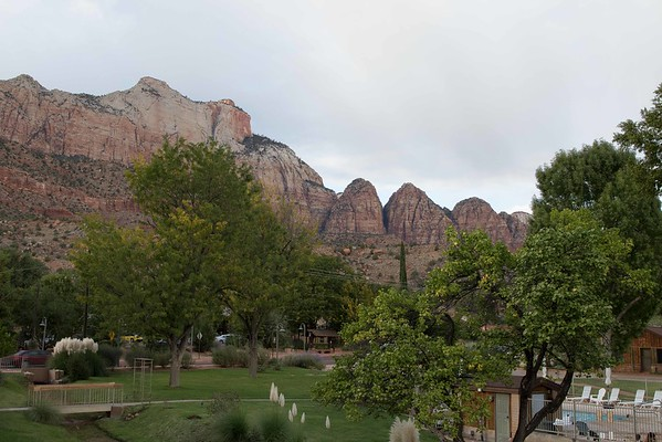Zion Canyon Springdale view from behind Driftwood Lodge 10-20-2015