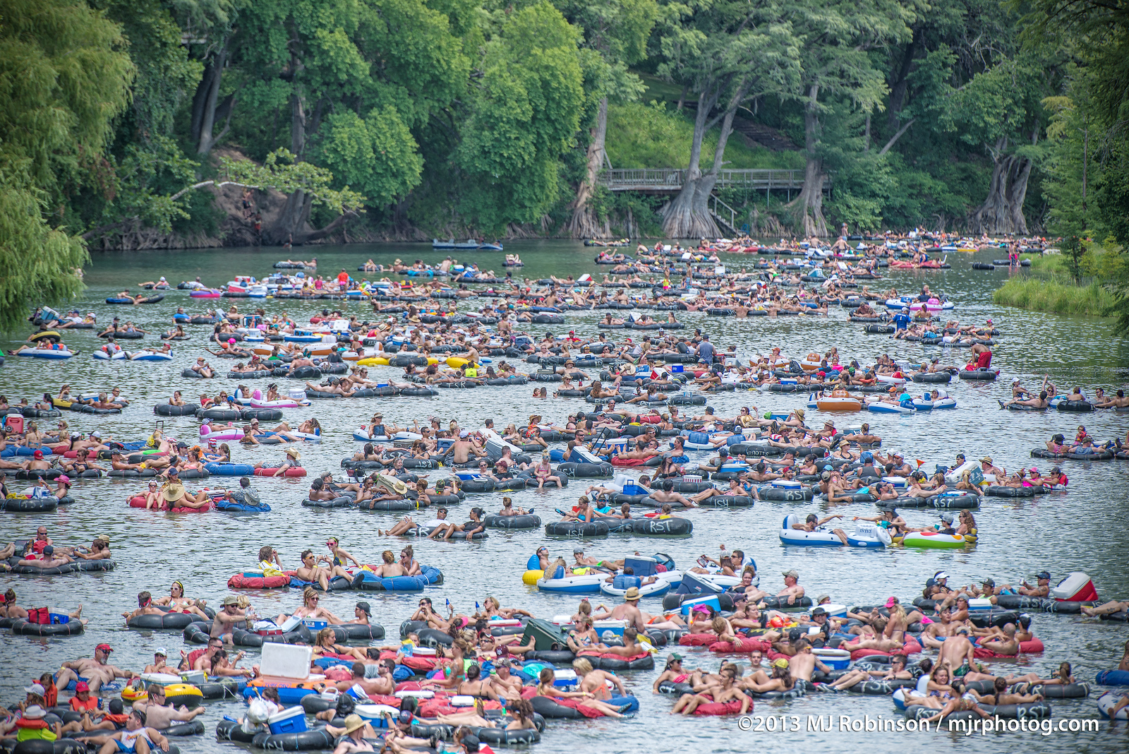 Rush Hour on the Guadalupe River.