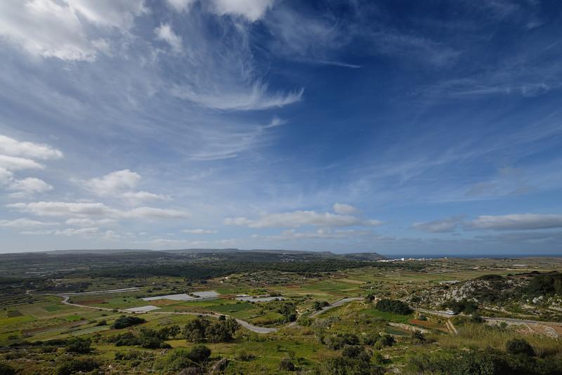 Looking towards Il-Mizieb from Mellieha, Malta, March
