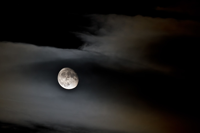 Moon + clouds