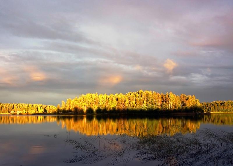 Evening Light, Finland  52x42 Black IKEA Ribba frame