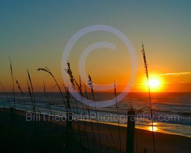 Sunrise on Top Sail Island, NC.