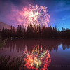 Canada day fire works from along the Bow River 2013! HAPPY CANADA DAY!
