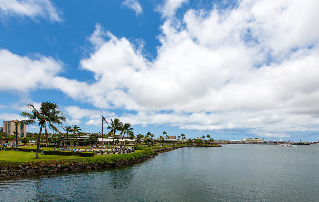 Pearl Harbor Historic Sites Facility from the USS Bowfin.