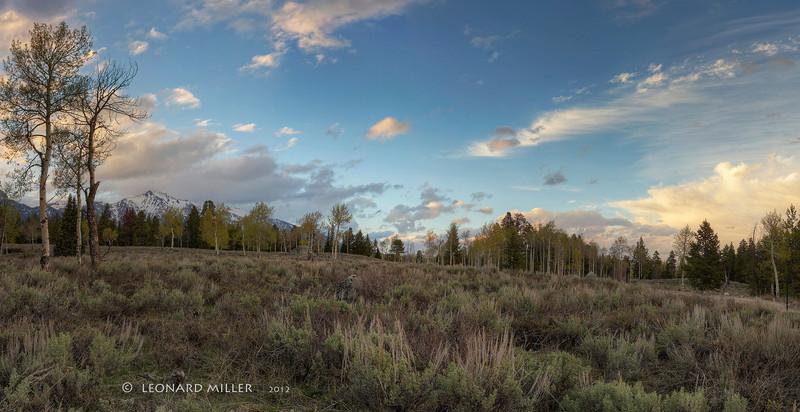 Grand Teton Sundown - Wyoming