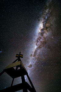 The Milky Way from the summit of Mt. Mopanui, Dunedin