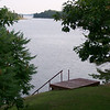Looking down Barry`s channel from our home in Parry Sound