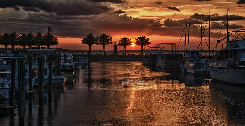 _DLS7636 Sanford Marina Sunset