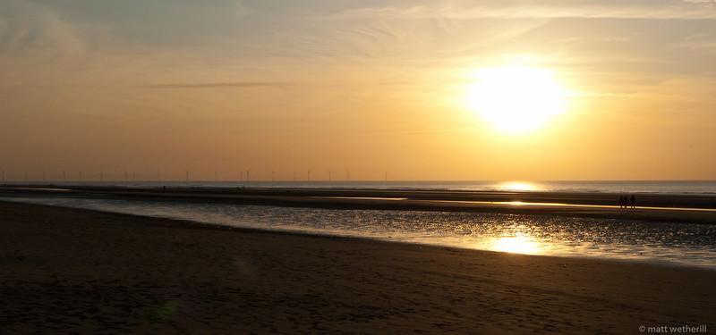 Sunset on Formby beach