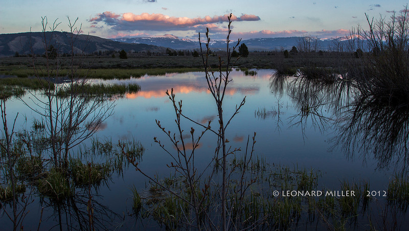 Beaver Pond Sundown - Wyoming