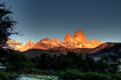Mt FitzRoy, Patagonia  at dawn